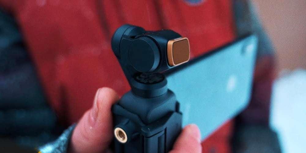 Набор фильтров PolarPro SHUTTER для DJI Osmo Pocket в руках