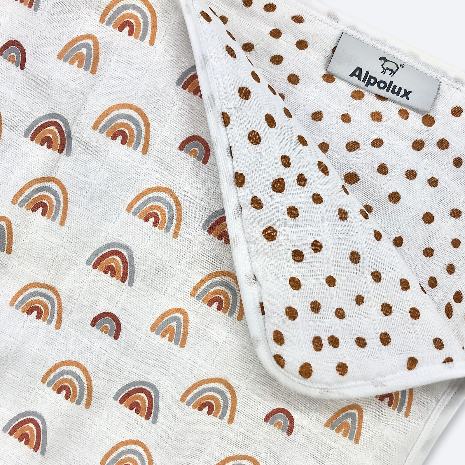 Муслиновое утеплённое одеяло Mjölk Радуги