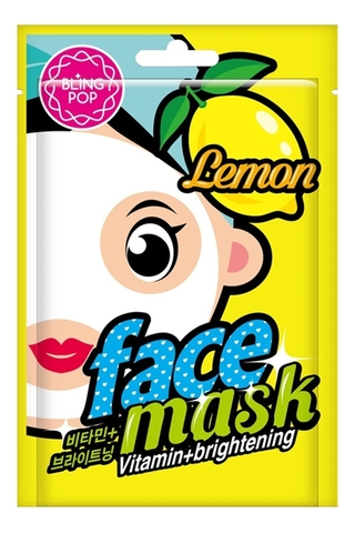 BLING POP Маска для лица тканевая BLING POP Lemon Vitamin & Brightening Mask 20мл