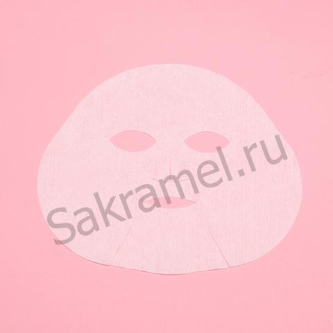 Маска косметологическая без воротника (Спанлейс, белый, 25 шт/упк)