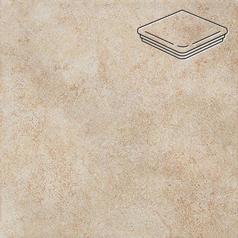 Interbau - Nature Art, Bambus beige/Бежевый 320x320x9,5, цвет 112 - Ступень флорентийская угловая