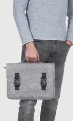 Серый войлочный портфель Gmakin для Macbook Air/Pro 13,3 на пластиковых застежках