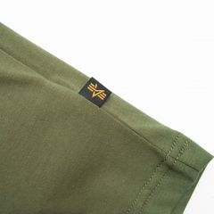 Футболка Alpha Industries Basic Logo Olive (Зеленая)
