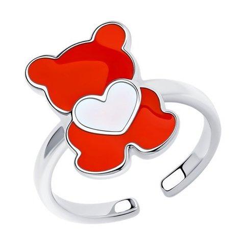 94013184 - Кольцо детское из серебра с эмалью