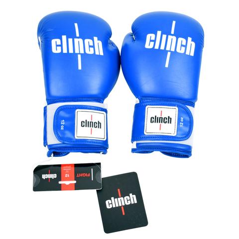 Перчатки боксерские Clinch fight синие