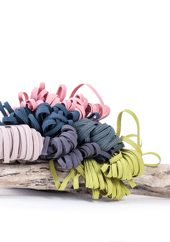 Декоративная резинка шириной 4 мм, 6 цветов