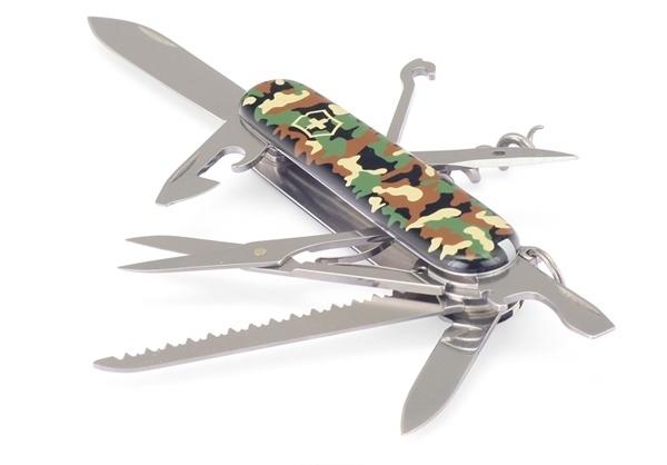 Складной нож Victorinox Huntsman Camouflage (1.3713.94) 91 мм., 15 функций, камуфляжная расцветка - Wenger-Victorinox.ru