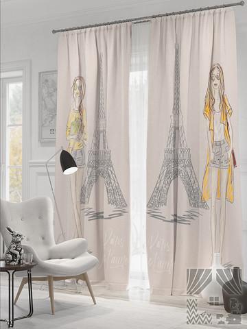 Комплект фотоштор Парижский стиль (св.серый)