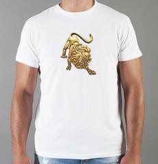 Футболка с принтом Знаки Зодиака, Лев (Гороскоп, horoscope) белая 0043