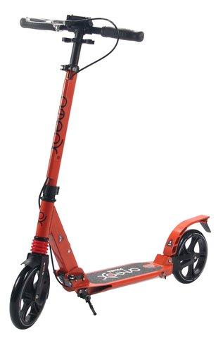 Самокат для взрослых Аteox Prime с большими колесами и ручным тормозом (оранжевый)