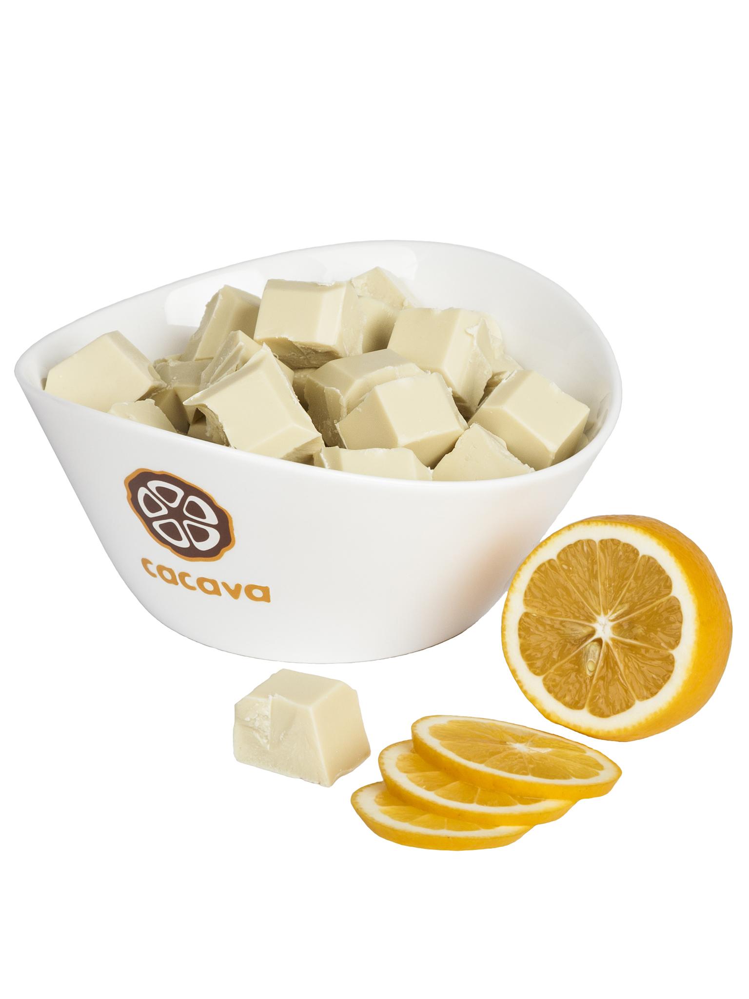 Белый шоколад с лимоном, внешний вид