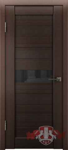 Дверь Л4ПГ4 стекло черное (венге, остекленная экошпон), фабрика Владимирская фабрика дверей