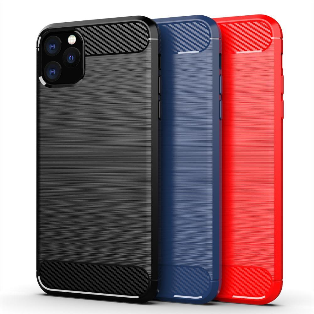 Чехол iPhone 11 Pro цвет Black (черный), серия Carbon, Caseport