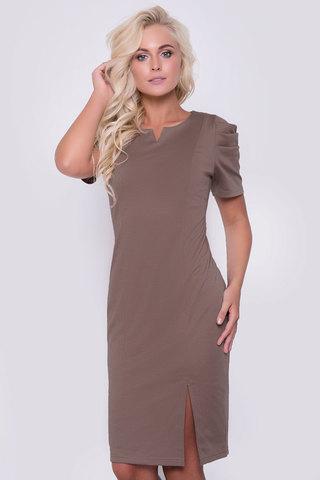 Элегантное платье для изысканных дам. Оригинальный фасон подчеркнет Вашу индивидуальность. Платье выполнено из мягкого трикотажа. Длина: 44-52р - 96-100см