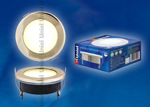 GX53-9/2700/Н5 Золото. Светильник встраиваемый с лампой. IP54