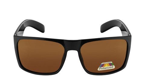 Очки с коричневыми поляризованными линзами  Артикул: А02. Вид фас.
