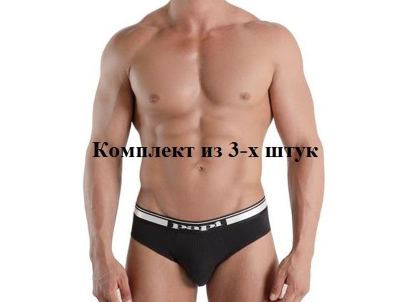 Комплект мужских трусов брифов 3 шт PAPI 554101B-001