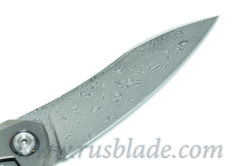 Cheburkov Russkiy Damascus folding knife Best Russian Knives