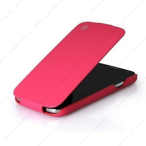 Чехол-флип HOCO для Samsung Galaxy S4 i9500/ i9505 - HOCO Duke flip Leather Case Rose red