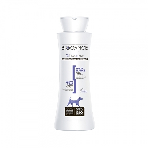 Натуральный BIO шампунь для собак светлых окрасов Biogance White Snow 250 мл