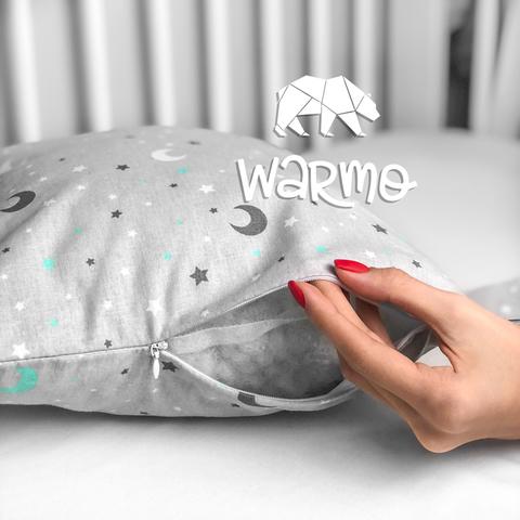 Набір бортиків-подушок в ліжечко 30x30см НЕБО