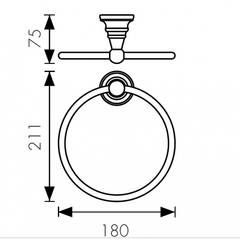 Полотенцедержатель круглый KAISER Arno KH-2201 схема