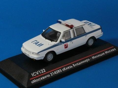Moskvich-214241 (2142R5) Prince Vladimir Police GAI Moscow 1997 1:43 ICV122