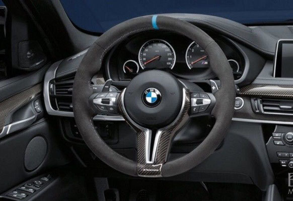 Карбоновая вставка в М Performance руль для BMW X5 M F85