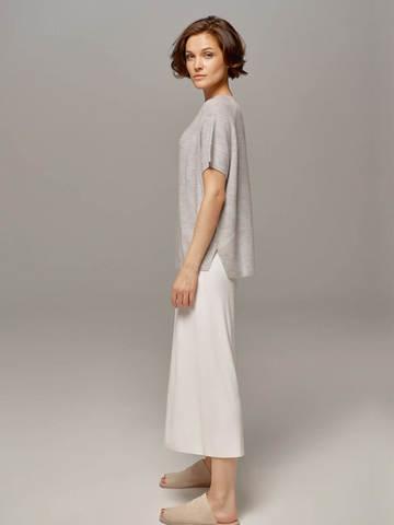 Женский серый пуловер LE TRICOT - фото 3