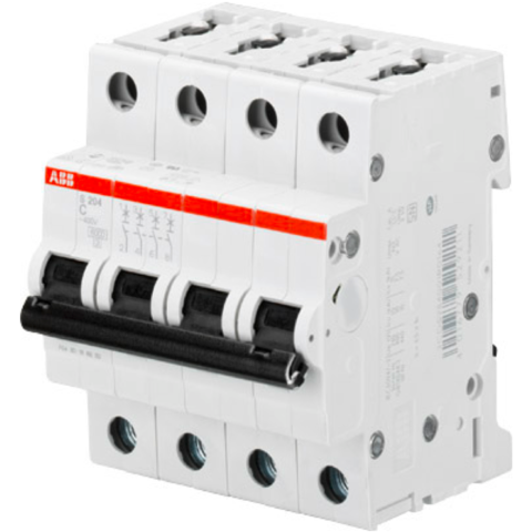 Автоматический выключатель 4-полюсный 0,5 А, тип C, 6 кА S204 C0.5. ABB. 2CDS254001R0984