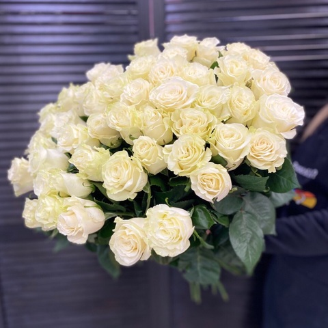 51 белая роза 60 см #1459
