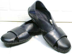 Мужские летние сандали босоножки синие Luciano Bellini 76389 Blue.