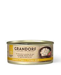 Grandorf консервы для кошек (куриная грудка с утиным филе) 70г
