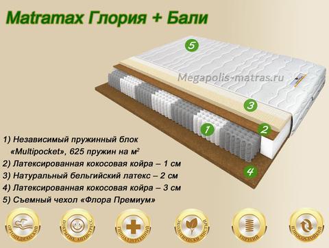 Матрас Матрамакс Глория + Бали купить в Москве от Megapolis-matras.ru