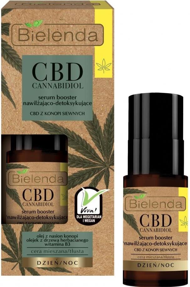 CBD Cannabidiol сыворотка-бустер увлажняющая и детоксифицирующая с CBD из семян конопли 15мл
