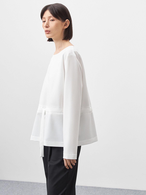 Блуза Lindsy с кулисой, Молочный
