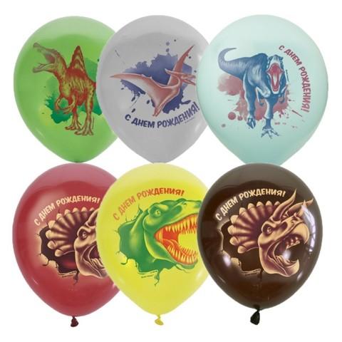 Шары с динозаврами