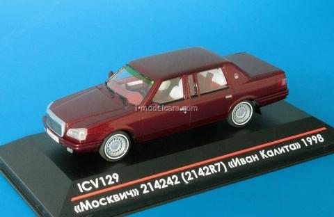 Moskvich-214242 (2142R7) Ivan Kalita 1998 metallic dark red 1:43 ICV129