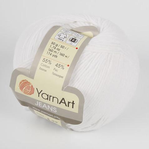 Пряжа YarnArt JEANS - (62-белоснежный)