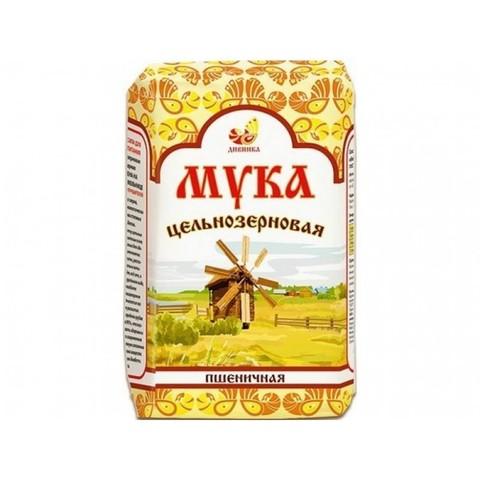 Мука пшеничная хлебопекарная цельнозерновая (обойная), 1 кг