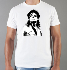 Футболка с принтом Майкл Джексон (Michael Jackson) белая 009