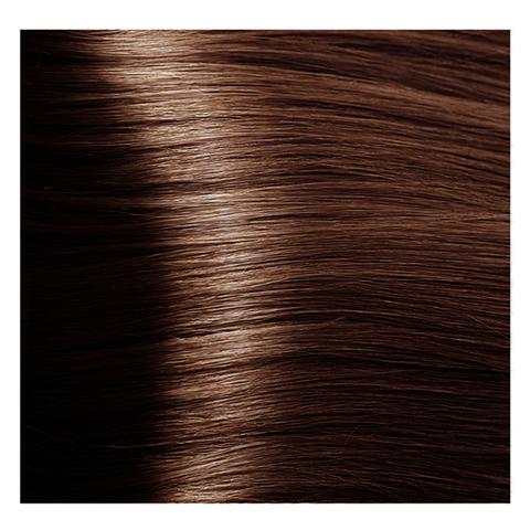 Крем краска для волос с гиалуроновой кислотой Kapous, 100 мл - HY 5.43  Светлый коричневый медный золотистый