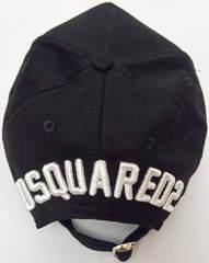 Модная кепка с длинным козырьком Dsquared2 Icon 03-6794-9931-Black.