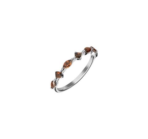 Кружевное кольцо с дымчатыми топазами