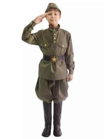 Военная форма Солдат с брюками галифе подростковый