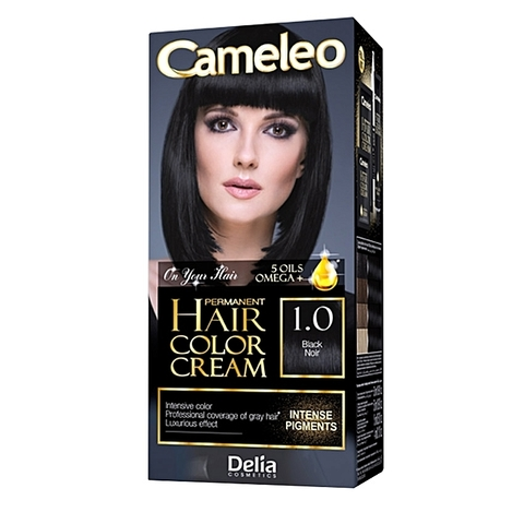 Delia Cosmetics Cameleo Kрем-краска для волос тон 1.0 черная