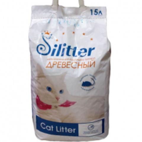 Silitter - древесный наполнитель 15л (~9,4 кг)