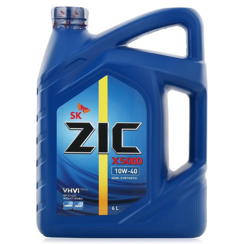 ZIC X5000 10W40 (6л) - Полусинтетическое моторное масло