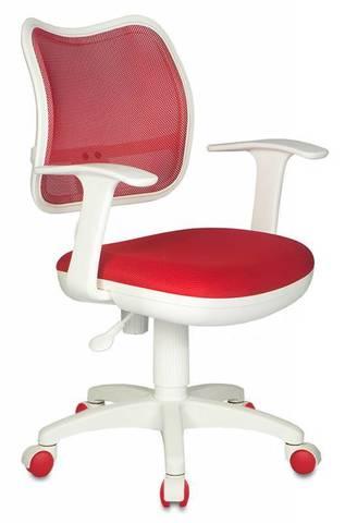 спинка сетка красный сиденье красный TW-97N (пластик белый)