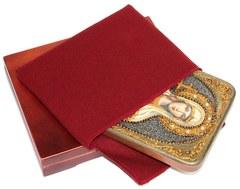Инкрустированная икона Святая мученица Татиана 20х15см на натуральном дереве в подарочной коробке